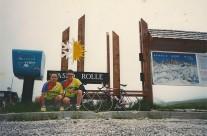 1996 circa – Lino Farisato e Piero Serblin, al Passo Rolles e Passo Valles