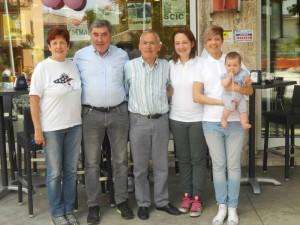 Eddy Merckx in visita alla pasticceria Farisato
