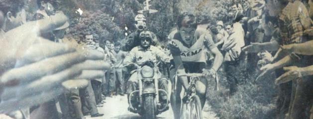 1968 – Lino Farisato sul Nevegal dove staccò Rudi Altig e tutti gli altri