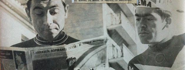 Eddy Merckx (sx) e Lino Farisato