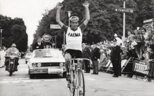 Lino Farisato vincitore tappa Cortina - Vittorio Veneto al Giro d'Italia nel 1968