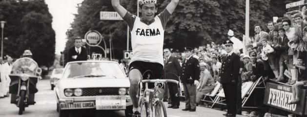 Lino Farisato vincitore tappa Cortina –  Vittorio Veneto al Giro d'Italia nel 1968