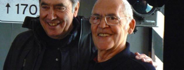 "2015, Bruxelles – Eddy Merckx con Lino Farisato, invitato alla Mostra ""70 Ans Jaar Eddy Merckx Jacky Ickx"""